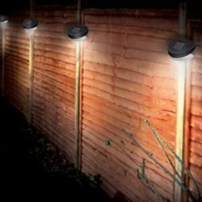 4 Garden Solar Powered Wall Fence Door Step Lights Led Outdoor Lighting Lantern