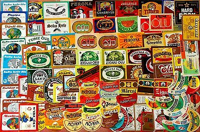 Beer + Soft Drink  Labels Collection: 100 Different -Estonia (Many Seldom!)