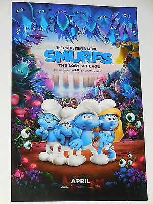 "SMURFS: THE LOST VILLAGE ""B"" 11x17 PROMO MOVIE POSTER"
