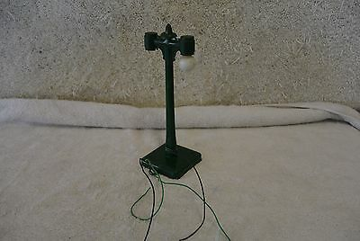 Vintage Train G Scale LGB 2 Bulb Light Metal Pole 0894