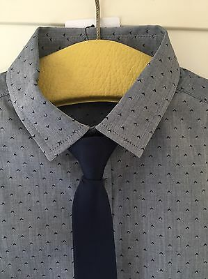 BNWT Boys Shirt And Tie Set M&S Kids 9-10 Years Must See!