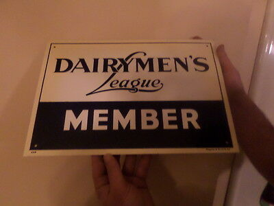 dairymens member metal sign with box vintage farm sign