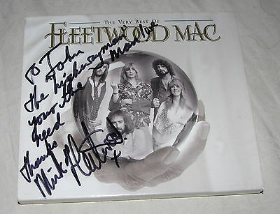 "MICK FLEETWOOD Signed Autograph ""The Very Best of Fleetwood Mac"" CD to John"
