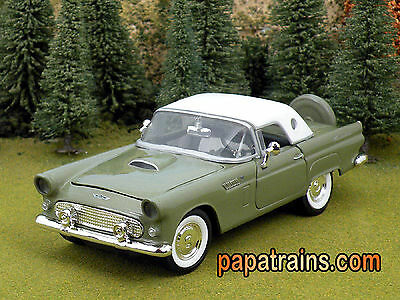 Die Cast 1956 Ford Thunderbird Hard Top G Scale 1:24 by Showcasts 56 Ford T Bird