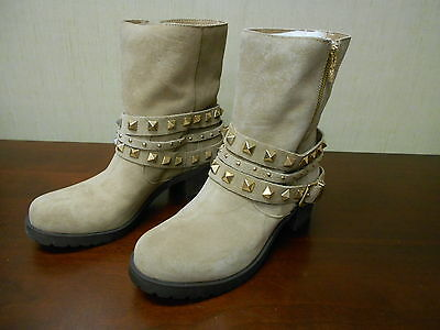 J4184 New Women's BCBGeneration Estabon Leather Ankle Boots Safari 7 M