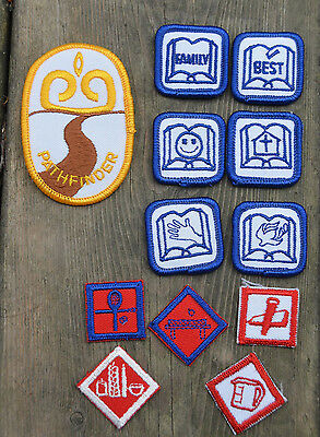 Vintage 1980s CANADA Girl Guides PATHFINDER Young Child LOT OF BADGES PATCHES