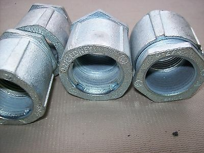 """4-100 O-Z Gedney 1"""" inch 3-piece coupling  Threaded, Malleable Iron"""