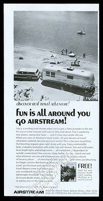 1968 Airstream travel trailer lake shore photo vintage print ad
