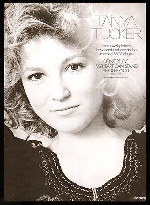 1975 Tanya Tucker photo Dont Believe My Heart Can Stand Another You trade ad