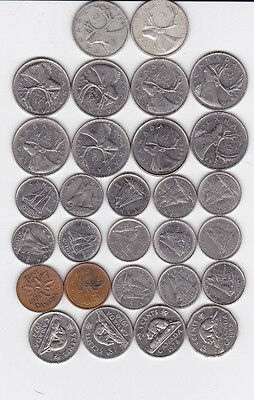 Canadian Mixed Coin Lot 1940 & 1961 Silver Quarters 80% $4.02 Face Value
