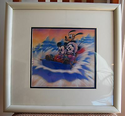 """MICKEY IN WINTER"" Lithograph Disney / Marlin Art"