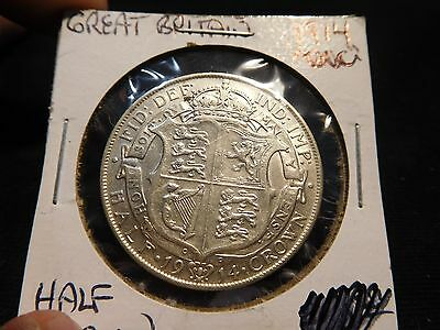 Great Britain 1914 Silver 1/2 Crown