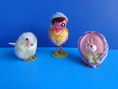 3 Vintage Easter Collectible Decorations- Japan