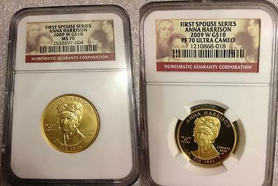 2009 Anna Harrison First Spouse Ngc Pf70 Pr70 Ms70 *low Mintage* Free Shipping