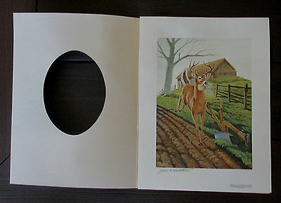 VINTAGE 1987 JOHN DEERE 150th ANNIVERSARY DOUBLE SIGNED LIMITED EDITION PRINT