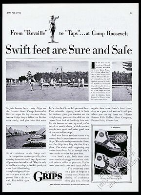 1930 Greater Camp Roosevelt Wisconsin photo Grips basketball shoes print ad