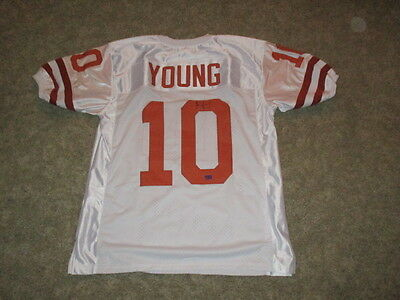 Ncaa Texas Longhorns Signed Vince Young Jersey #10 Nfl Titans Authenticated