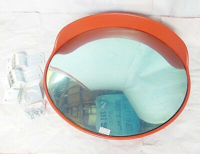 1X New Red 80cm Outdoor Convex Security Safety Mirror w/Cover