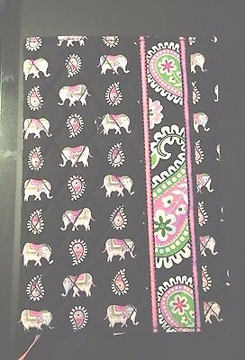 NWT Vera Bradley Paperback Cover Pink Elephants Book Cover Hard to Find