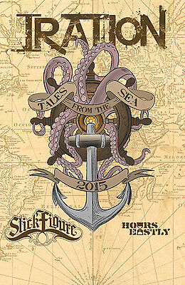 "IRATION /STICK FIGURE ""TALES FROM THE SEA 2015"" CONCERT TOUR POSTER-Reggae Music"