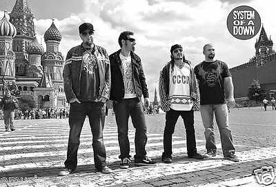 """SYSTEM OF A DOWN """"BAND STANDING IN RED SQUARE, RUSSIA"""" POSTER FROM ASIA(#o-7359)"""