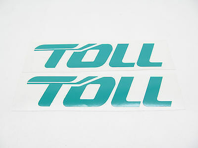 'TOLL' DECALS - LARGE suit 1/50 SCALE TRAILERS - COMPUTER-CUT VINYL