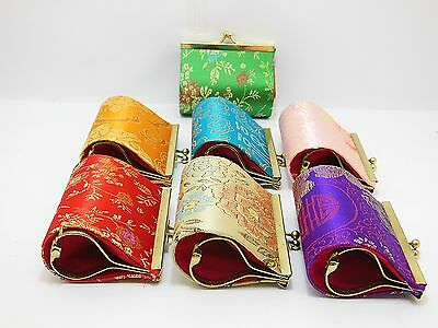 12 Silk Frame bags Purses Top Lock Closure Mixed