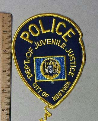 """Vintage New York City """"Department. of Juvenile Justice"""" Iron/Sew on Police Patch"""