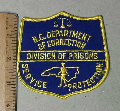 Vintage North Carolina Department of Corrections Iron/Sew on Patch