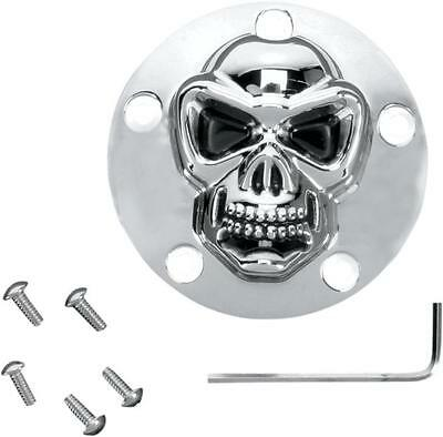 DS 3D Skull Points Cover Chrome Harley FLSTF Fat Boy 2000-2014