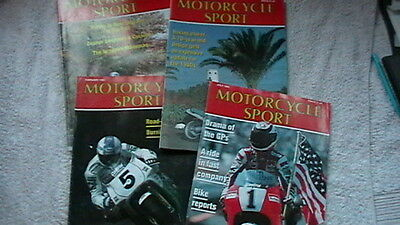 Motorcycle Sport Magazines - 5 Issues - 1993
