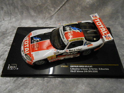 IXO MODEL CHRYSLER VIPER GTS-R - SPA 24Hrs 2002 - DIECAST - 1-43 SCALE  BOXED