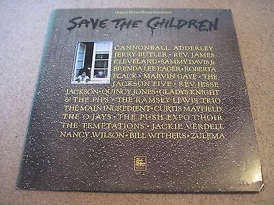 SAVE THE CHILDREN Various Artists 1974 TAMLA MOTOWN & POSTER   DBLLP  near mint