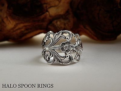 Very Pretty Ethereal Ladies Norwegian Silver Spoon Ring  Ideal Mothers Day Gift