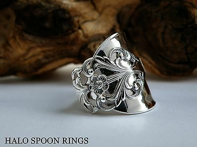 Beautiful Chunky Ladies Norwegian Silver Spoon Ring * The Perfect Gift *