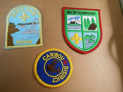 (Sd6-R) Three Listed Newfoundland Scout Badges    Unused  Canadian Scout Badges