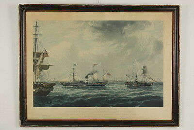 John Ward (1798-1849): The Steamships 'Vivid' and 'Waterwich' off Orfordness