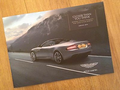 Aston Martin Car Sales Finance Brochure / Catalogue Spring 2016 BRAND NEW