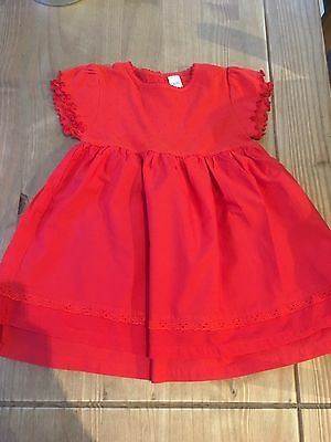 Next Baby Girl Red Party Dress 12-18 Months