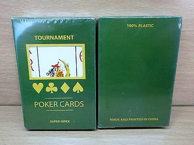 1 New Deck 100% Plastic Tournament Poker Playing Cards - Sealed