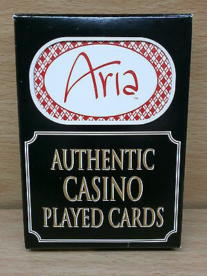 Aria Las Vegas Used Casino Size Playing Cards - Used, Resealed Deck