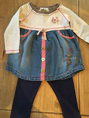 Baby Girl Next Tunic Top And Leggings 12-18 Months