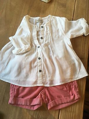 Next Baby Girl Shorts And Blouse Set 12-18 Months