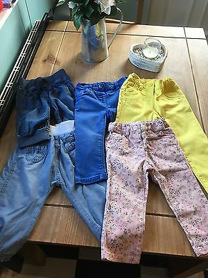 Next Baby Girl Jeans/jeggings/trousers Bundle 12-18 Months