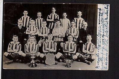 Newcastle upon Tyne - Northern Temperance Football Team - real photographic p/c.