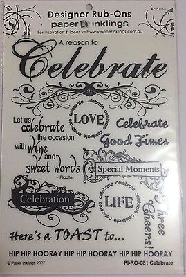 Paper Inklings Rub-Ons: Celebrate Black **BRAND NEW**