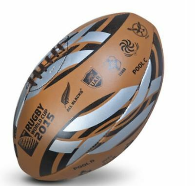 Rugby England 2015 World Cup Gilbert Leather Ball Team Emblems And Groups