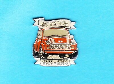 Glassierter Mini Cooper 45  YEARS - Pin 1959-2004