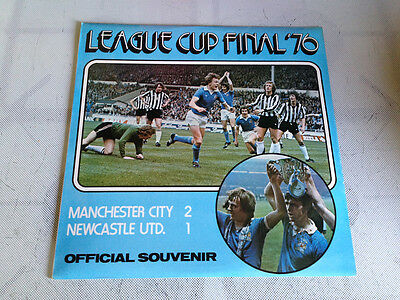 "Manchester City v Newcastle Utd League Cup Final 1976 - Commentary Vinyl 12"" LP'"