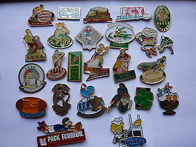lot 25 pin s sport  RUGBY  different